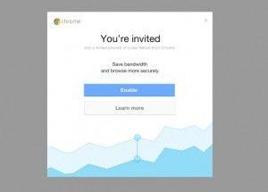 Invitación Chrome iOS
