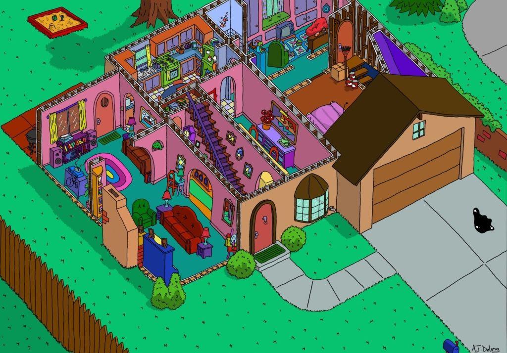 casa de los simpson planta baja