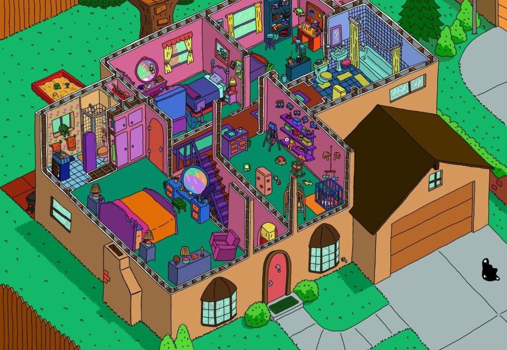 Casa de los simpson planta alta